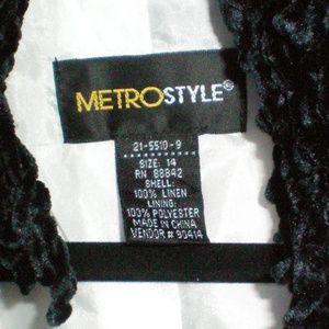 Stunning MetroStyle Blazer Scarf not included SZ14